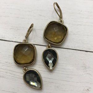 Anne Klein gemstone drop earrings